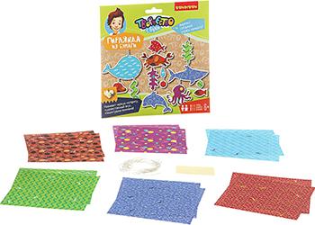 Набор из бумаги Bondibon Гирлянда из бумаги (морские обитатели) ВВ1847 деревянные игрушки bondibon игровой набор пазлы морские обитатели