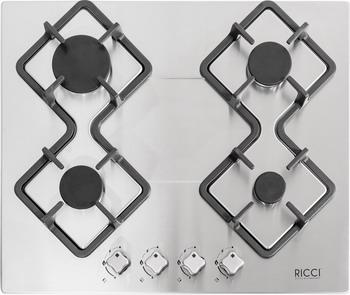 Встраиваемая газовая варочная панель Ricci RGN-KA 4009 IX встраиваемая комбинированная варочная панель ricci rkn 4t 1031 ix