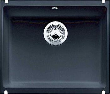 Кухонная мойка BLANCO 523740 SUBLINE 500-U керамика черный PuraPlus с отв.арм. InFino кухонная мойка blanco 523738 subline 500 u керамика серый алюминий puraplus с отв арм infino