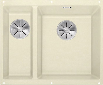 Кухонная мойка BLANCO SUBLINE 340/160-U SILGRANIT жасмин (чаша справа) с отв.арм. InFino 523563 кухонная мойка blanco 523401 subline 160 u silgranit жасмин c отв арм infino