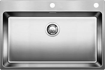 Кухонная мойка BLANCO ANDANO 700-IF-A нерж. сталь зеркальная полировка с клапаном-автоматом 522995 мойка кухонная blanco andano 450 u нерж сталь зеркальная полировка без клапана автомата 522963 519373