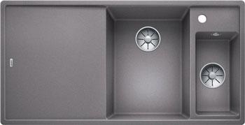 Кухонная мойка BLANCO AXIA III 6 S алюметаллик чаша справа разделочный столик ясень c кл.-авт. InFino 523464 blanco lexa 6 s чаша справа аллюметаллик