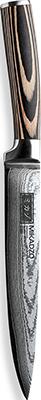 Нож разделочный MIKADZO Damascus Suminagashi нож филейный mikadzo damascus