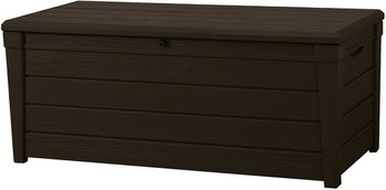 Сундук Keter BRIGHTWOOD STORAGE BOX 454 L коричневый 17194454 стол сундук circa storage rattan table 132l keter