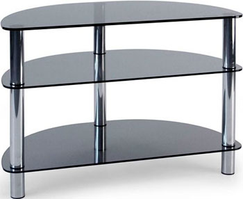 Стойка Metaldesign MD 404 SLIM хром - дымчатое стекло подставки под телевизоры и hi fi md 509 1812 b planima черный дымчатое стекло