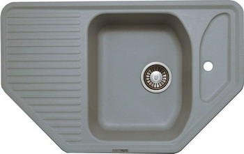Кухонная мойка LAVA A.1 (SCANDIC серый) кухонная мойка lava q 1 scandic серый