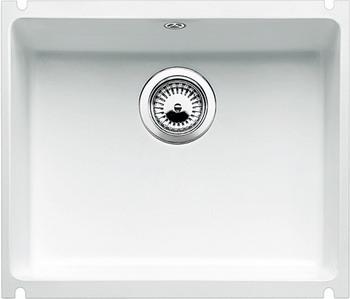 Кухонная мойка BLANCO SUBLINE 500-U КЕРАМИКА матовый белый PuraPlus  blanco subline 500 u чёрный