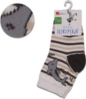 Носочки Jetem Дельфинчик Мальчик 14 / 86-92 бежевый-коричневый