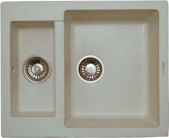 Кухонная мойка LAVA D.1 (VANILLA ваниль) кухонная мойка ukinox stm 800 600 20 6