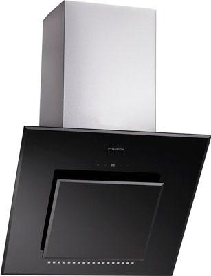 все цены на Вытяжка со стеклом Pyramida HES 30 (D-600 MM) BLACK /AJ онлайн