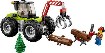 Конструктор Lego City Great Vehicles: Лесной трактор 60181 цена