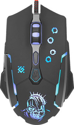 Мышь Defender Killer GM-170 L оптика 7кнопок 800-3200 dpi 52170