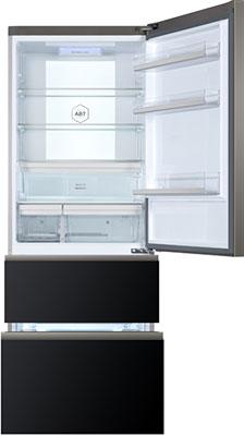цены Многокамерный холодильник Haier A3FE 742 CGBJRU черное стекло