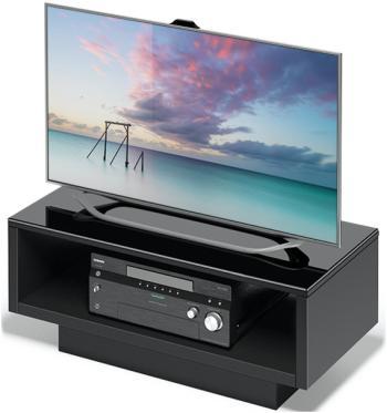 Подставка Alteza Albero TV-3790 черное стекло