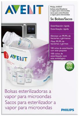 Пакеты для стерилизации в СВЧ Philips Avent SCF 297/05 подогреватели и стерилизаторы babyono пакеты для стерилизации в микроволновой печи 5 шт