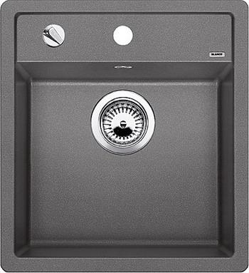 Кухонная мойка BLANCO DALAGO 45-F SILGRANIT алюметаллик с клапаном-автоматом кухонная мойка blanco dalago 45 silgranit кофе с клапаном автоматом