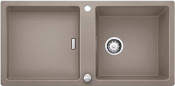 Кухонная мойка BLANCO ADON XL 6S SILGRANIT серый беж с клапаном-автоматом мойка кухонная blanco elon xl 6 s шампань с клапаном автоматом 518741