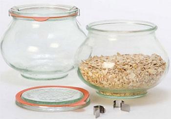 Банка Weck 0 56 л горшочек d8 см h9 см с крышкой стекло стакан декоративный d8 5 см х 10 см