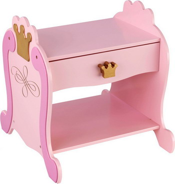 Прикроватный столик KidKraft Принцесса 76124_KE nume розовый стандарт сша