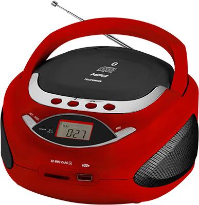 Магнитола Telefunken TF-CSRP 3494 B красный