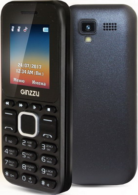 Мобильный телефон Ginzzu M 102 D mini черный массажер нозоми мн 102