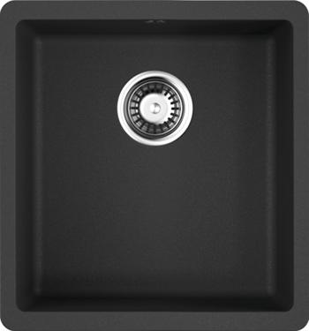 Кухонная мойка OMOIKIRI Kata 40-U-BL Artgranit/черный (4993396) кухонная мойка omoikiri kata 40 u gr artgranit leningrad grey 4993397