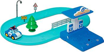 Маленький трек Robocar Poli с Умной машинкой Поли robocar игрушка металл машина марк поли 6 см robocar