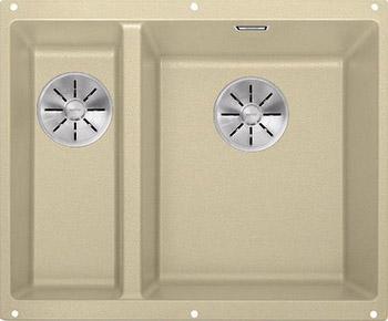 Кухонная мойка BLANCO SUBLINE 340/160-U SILGRANIT шампань (чаша справа) с отв.арм. InFino 523564 blanco statura 160 u