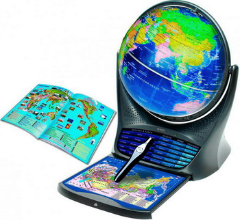 Интерактивный глобус с голосовой поддержкой Oregon Scientific SG 18 глобус oregon scientific smartglobe v3 d 25 sg18