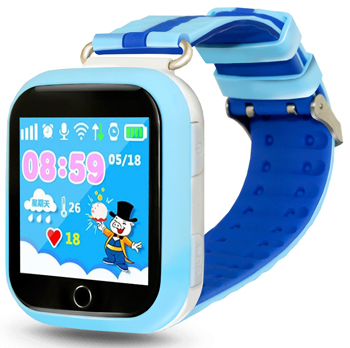 Детские часы-телефон Ginzzu 14226 503 blue 1.54'' Touch nano-SIM children s smart watch with gps camera pedometer sos emergency wristwatch sim card smartwatch for ios android support english e