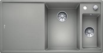 Кухонная мойка BLANCO AXIA III 6 S жемчужный чаша справа разделочный столик ясень c кл.-авт. InFino 523465 blanco lexa 6 s чаша справа жемчужный