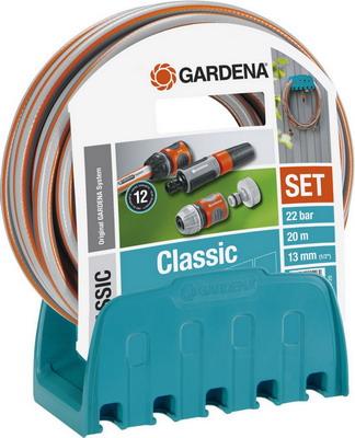 Кронштейн настенный со шлангом Gardena Classic 18005-20 катушка со шлангом и фитингом gardena 50 classic 02691 20