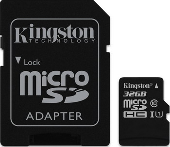 Карта памяти Kingston 32 GB microSDHC Class 10 UHS-I (SD адаптер) SDC 10 G2/32 GB карта памяти transflash 32гб microsdhc class 10 uhs i u3 90r 45w kingston canvas go