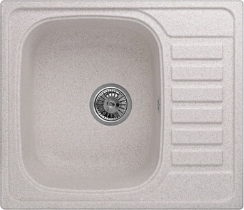 Кухонная мойка Weissgauff QUADRO 575 Eco Granit светло-бежевый  weissgauff softline 780 eco granit светло бежевый