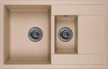 Кухонная мойка Weissgauff QUADRO 775 K Eco Granit бежевый  weissgauff quadro 420 eco granit графит