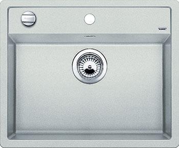 Кухонная мойка BLANCO DALAGO 6 SILGRANIT жемчужный с клапаном-автоматом стела яшма m