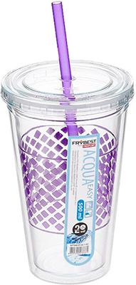 Стакан Frybest AC1-01 с трубочкой (500 мл) Фиолетовый чашка детская sistema с трубочкой цвет фиолетовый 250 мл