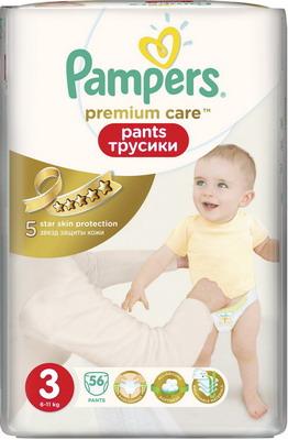 Трусики-подгузники Pampers Premium Care Pants Midi (6-11 кг) ЭкономичУпаковка 56 шт подгузники детские lovular трусики подгузники giraffe m 6 10 кг 56 шт уп