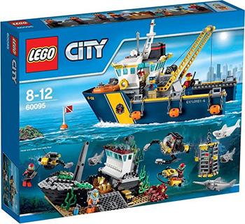 Конструктор Lego CITY DEEP SEA EXPLORERS Корабль исследователей морских глубин 60095 lego город исследование морских глубин номер модели 60091