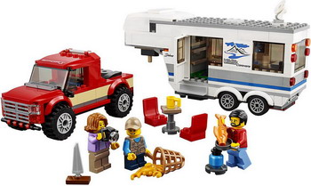 Конструктор Lego City Great Vehicles: Дом на колесах 60182 конструкторы lego lego city great vehicles рыболовный катер 60147