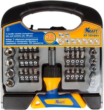 Отвертка со сменными вставками Kraft KT 701041 цена