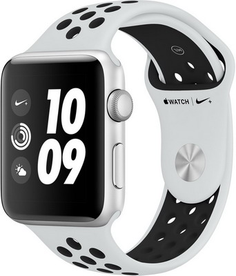 Часы Apple Watch Nike+ GPS Series 3 42 mm Sil Al Plat (MQL 32 RU/A) cy7c1011dv33 10zsxi