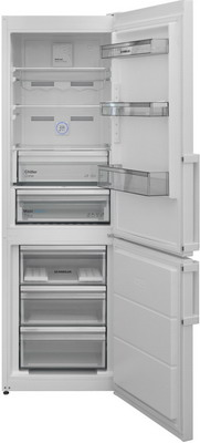 Двухкамерный холодильник Scandilux CNF 341 EZ W White двухкамерный холодильник scandilux cnf 379 ez x inox