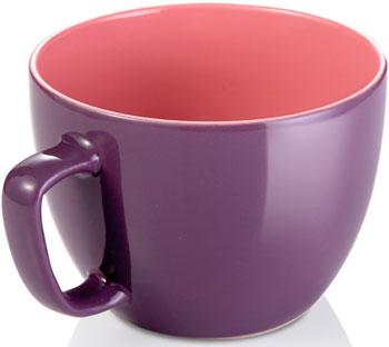 Экстрабольшая кружка Tescoma CREMA SHINE фиолетовый 387196.23 декор ape ceramica arezzo varese mix crema 15 1x15 1