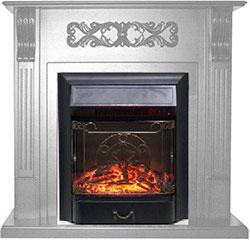 Каминокомплект Royal Flame VENICE с очагом Majestic Black(фактурный белый) (64903442)