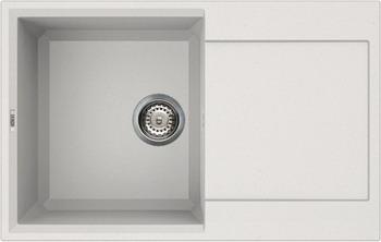 Кухонная мойка Elleci EASY 300  granitek (68) Bianco titano LGY 30068 мойка кухонная elleci ego 480 1000x500 granitek 62 lge48062