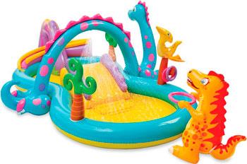 Надувной игровой центр Intex Диноленд 333х229х112 см цена