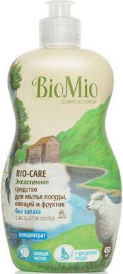 Средство для мытья посуды, овощей и фруктов BioMio Bio-Care с экстрактом хлопка и ионами серебра без запаха