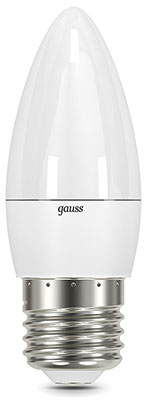 Лампа GAUSS LED Candle E 27 6.5W 2700 K 103102107 e27 6w 450lm 6000k 120 smd 3014 led white light candle lamp ac 85 265v