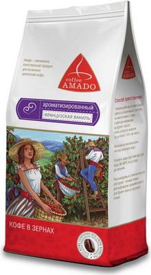 Кофе зерновой Amado Французская ваниль 0 5 кг кофе зерновой amado венская обжарка смесь 0 5 кг